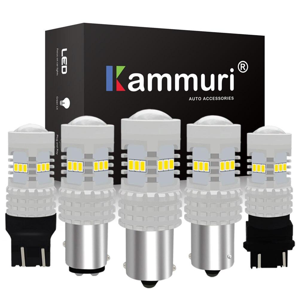 KAMMURI No Errors P21W 1156 BA15S BAU15S W21W W21/5W PY21W 1157 P21/5W 3157 P27/7W LED Reversing light Signal DRL Brake Light
