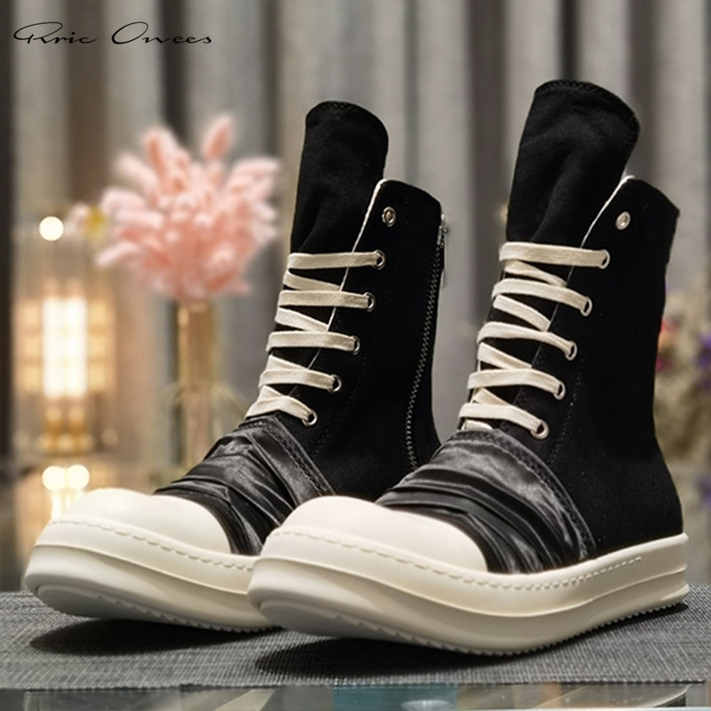 Rريك Owens حذاء رياضة حذاء رجالي s الرجال أحذية رياضية الشارع الشهير الهيب هوب حذاء رجالي حذاء رجالي كاجوال قماش الأحذية