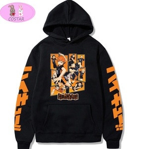 COSTAR Hot Anime Haikyuu!!! Hinata Shoyo Tobio Kageyama Fashion Hoodies Pullover Harajuku Hooded Sweatershirt Unisex