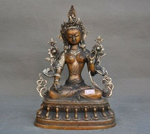 Hochzeit dekoration Tibet Buddhismus bronze silber Weiß Tara göttin Kwan-yin Guanyin Buddha statue