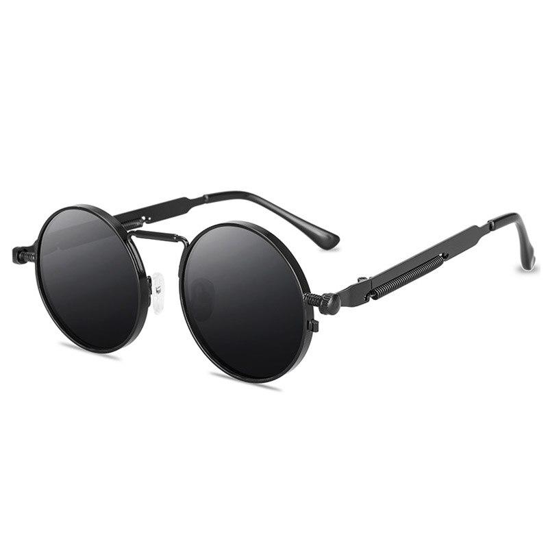 Fashion Round Steampunk Sunglasses Brand Design Men Women Vintage Metal Punk Sun glasses UV400 Shades Eyewear Gafas de Sol venetian round gradient pearl sunglasses women brand eyewear fashion design metal frame sun glasses
