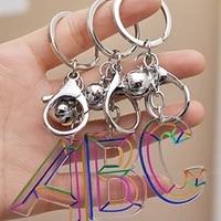 new fashion acrylic tassel womens jewelry a z 26 initials resin handbag car pendant cute keychain accessories gift