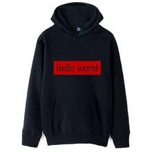 Hello World Geek C programme Std Namespace Code C + + homme sweat à capuche pour garçons Couple vêtements automne hiver polaire ZIIART