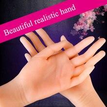 Doux grande main féminine 11 Massage de pénis artificiel masturbateur masculin réaliste faux main doigt toucher 3D jouets sexuels pour hommes poupée