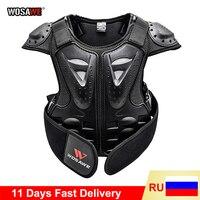 Защитный жилет WOSAWE для детей, нагрудный жилет протектор для позвоночника, мотоциклетная куртка, детская броня, Экипировка для мотокросса, б...