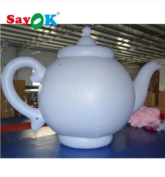 2m/6.6ft High Giant Inflatable Teapot Durable Teakettle for Tea Shop Tea house Advertising Exhibitions Activities Decoration