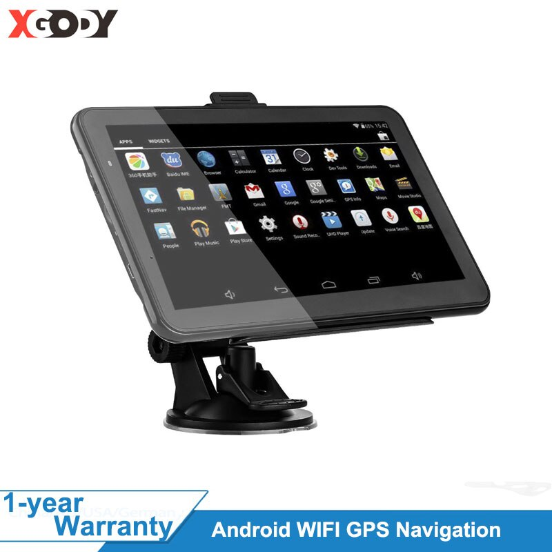 XGODY 7 Inch Car GPS Navigation Android 2 in 1 Tablet PC 16GB WiFi Bluetooth Auto GPS Car Navigator Navitel Europe Map 2020