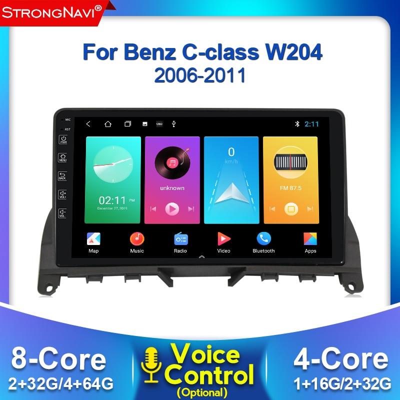 2.5D IPS DSP Android 4G LTE auto Radio Multimedia reproductor de Video GPS de navegación para Mercedes-Benz Clase C 3 W204 S204 2006 - 2011
