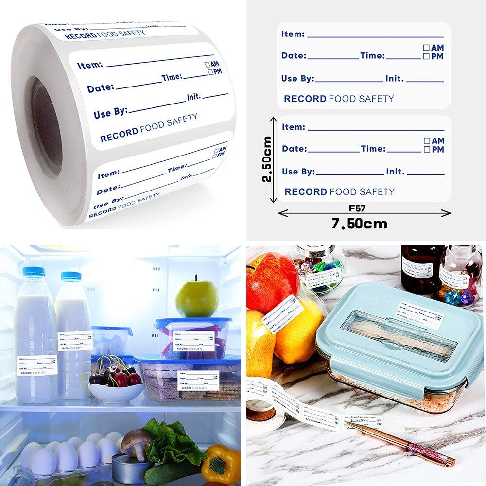 500 шт/рулон 2,5*7,5 см Дата пищевая Самоклеющаяся этикетка стикер для канцелярских товаров хранение еды Срок годности этикетка