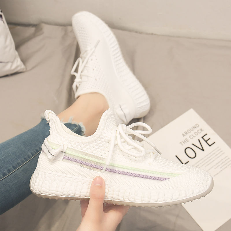 Zapatos Deportivos informales para mujer, zapatillas deportivas de moda con tejido de malla de aire, calzado antideslizante, calzado transpirable para correr