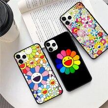 Japan Murakami Takashi Sonne Blume Telefon Fall für iPhone 11 11Pro Max 6 6s 7 8 Plus X XS max XR 9 SE2 Cartoon Telefon Zurück Abdeckung