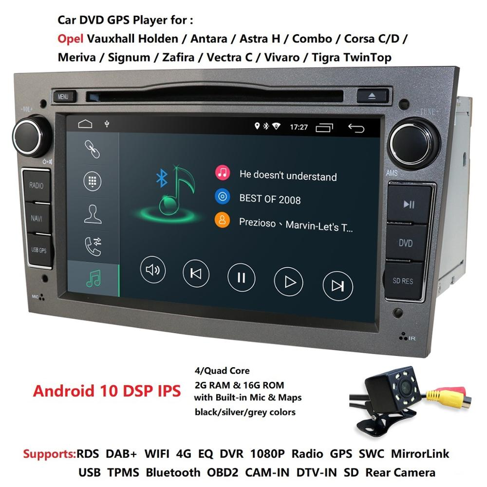 Hizpo android 10 dvd del coche para Opel Astra Meriva Vectra Antara Zafira Corsa gps radio video reproductor multimedia wifi Cámara