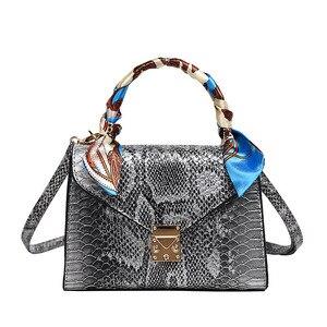 Fashion Leather Shoulder Sling Bag Female Snakeskin Luxury Handbags Women Ladies Hand Bags Designer Bolsos Mujer Pochette