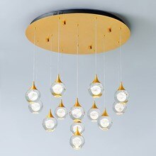 Moderne Kristallen Bol Lamp Nordic Plafond Kroonluchter Lustre Woonkamer Lamp Thuis Lamparas Led Luxe Global Bal Opknoping Verlichting