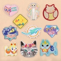 customizable wholesale computer embroidered animal patch clothing accessories shoes hats bags accessories embroidered cloth