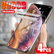 4PCS Full Cover Screen Protector For iPhone 11 12 Pro XS Max Mini Protective Film For iPhone 8 7 6 P