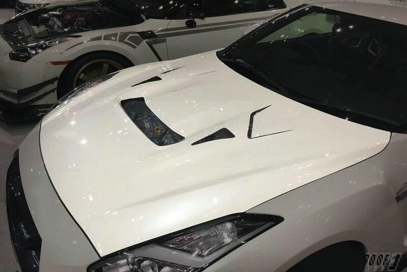 Couvercle de capot en Fiber de verre   Coiffe de voiture pour Nissan GTR R35 2017 MY17 VRS Style capot en Fiber de verre FRP, garniture de partie de course à dérive