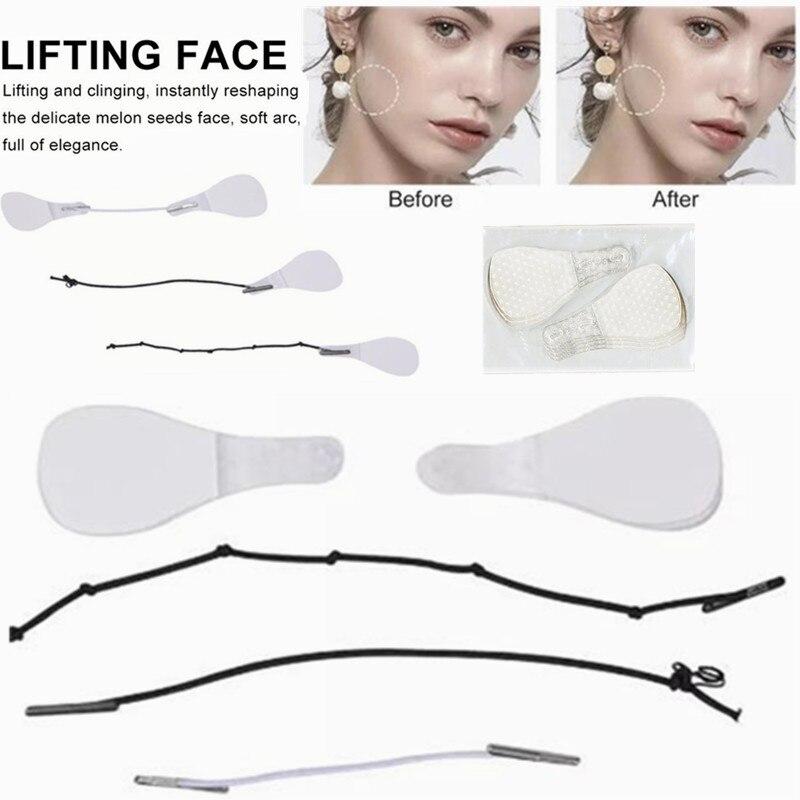 40 Pcs/Set Women Makeup Invisible V-Line V Face Shape Stickers Slimming Tools Lines Neck Chin V Shap