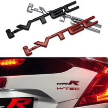 Voiture style 3D métal VTEC I-VTEC Chrome en alliage de Zinc emblème voiture carrosserie autocollant Auto accessoire pour Honda Civic Accord Insight