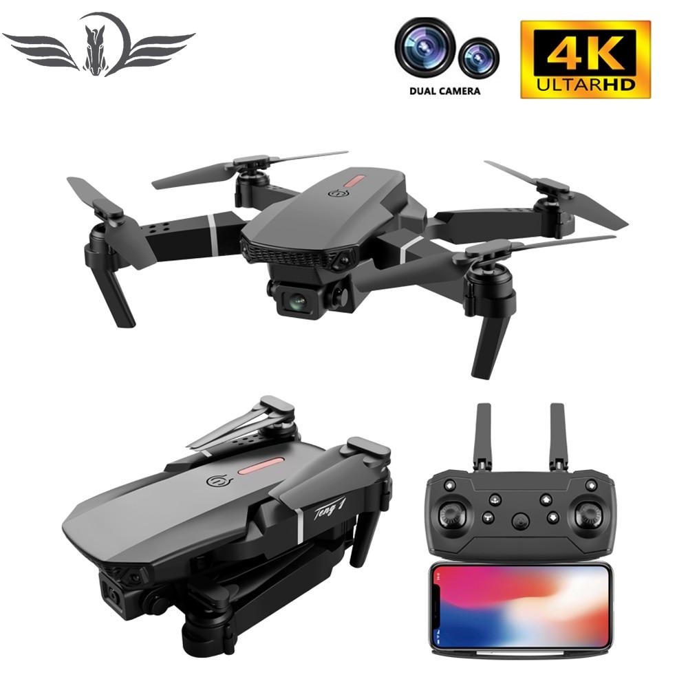 f6 drone 4k 1080p hd wifi quadcopter servo camera remote control adjustable angle drone camera dron reserve height rc helicopter FEMA E88 Pro Drone 4k HD Dual Camera wide angle 1080P WiFi Fpv Drone Height Hold Rc Quadcopter Dron Toy Pk E525 E58