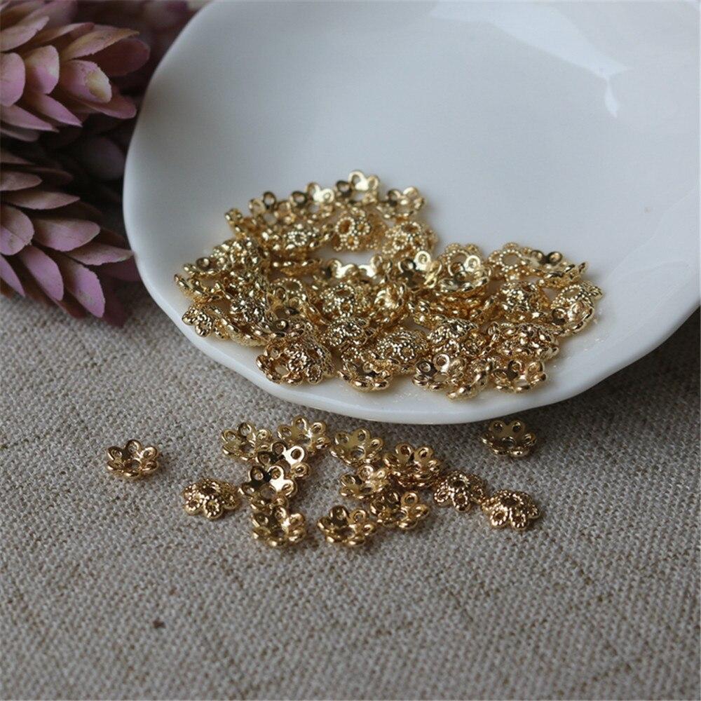 14K الذهب شغل Jinju اكسسوارات وعاء سلسلة قطر 6 مللي متر وعاء لتقوم بها بنفسك الملحقات