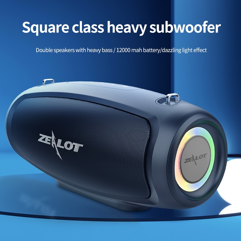 Zealot S37S Bluetooth Speaker 60W Output Power Bluetooth Speaker with Class D Amplifier Excellent Bass Performace Hifi speaker enlarge