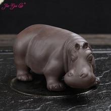 LUO-décor de thé en argile violette   Décor de maison, thé Animal hippique Animal, thé en argile Pet N021