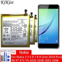 Аккумулятор мобильный телефон для Nokia 2, 3, 5, 6, 7, 8, 9 (2-й 2018 Plus), X6, X7, X71, Nokia3, TA-1020, 1028, 1032, 1038, аккумулятор HE319, HE321, HE336