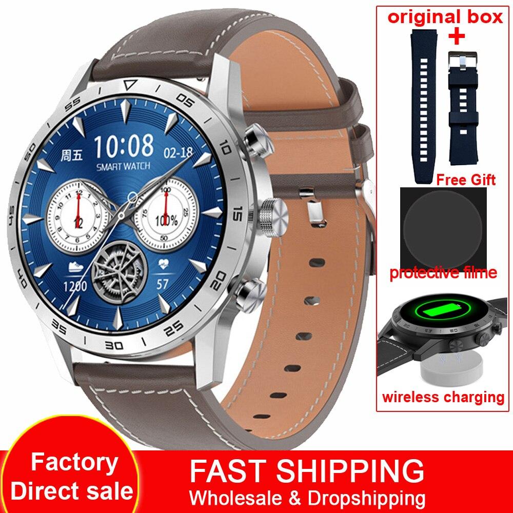KK70 454*454 HD شاشة ساعة ذكية الرجال مكالمة هاتفية شاحن لاسلكي زر دوار IP68 مقاوم للماء الموسيقى تلعب ECG Smartwatch