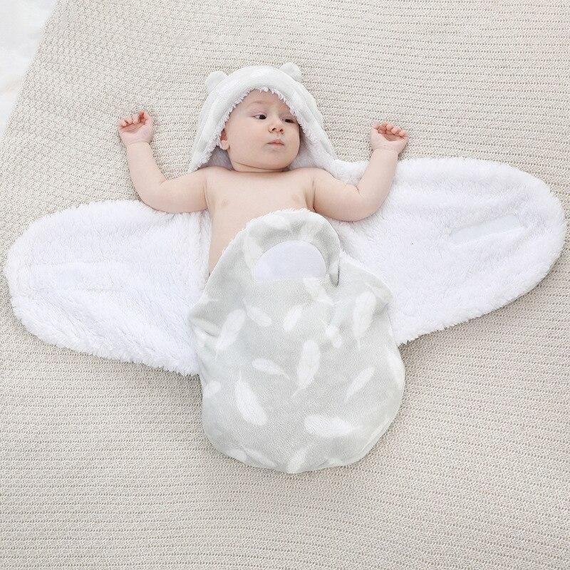 Newborn Sleeping Wrap Swaddle Baby Cotton Plush Boys Girls Cute Receiving Blanket Sleeping Bag Sleep Sack Baby Sleeping Bag