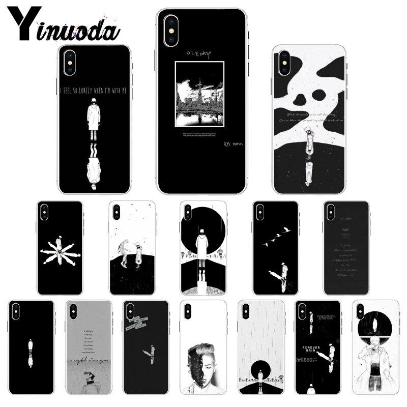 KPOP RM Mono cubierta suave de la caja del teléfono de la cáscara del teléfono para iPhone X XS X MAX 11 11 pro max 6 6s 7 7plus 8 8Plus 5 5S SE XR móvil