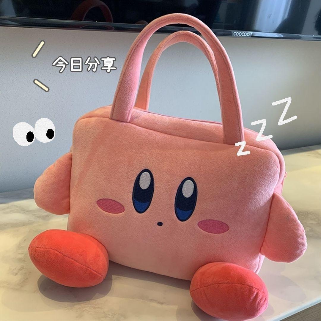 Cartoon Kabis Plush Handbag IPad Protective Bag Pink Star 12.9 Inch Flat Storage Bag Japanese Anime