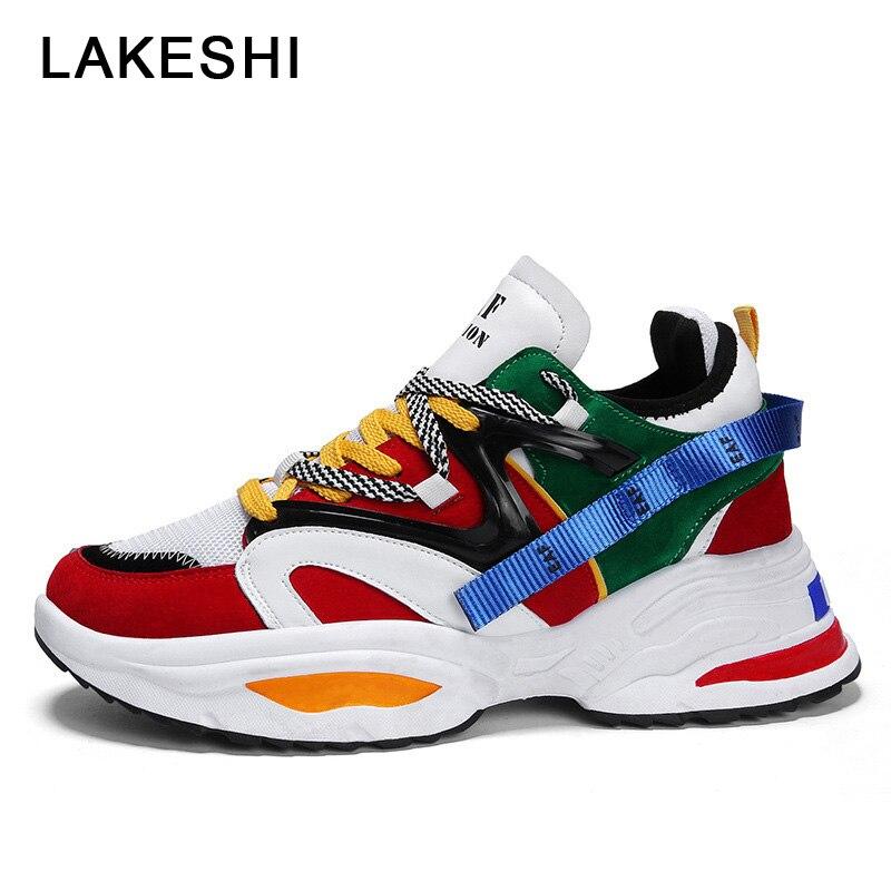 2020 nuevos zapatos de moda para hombre, zapatillas de tenis para hombre, zapatos informales transpirables de colores mezclados, zapatillas vulcanizadas para hombre, zapatos de talla grande 45