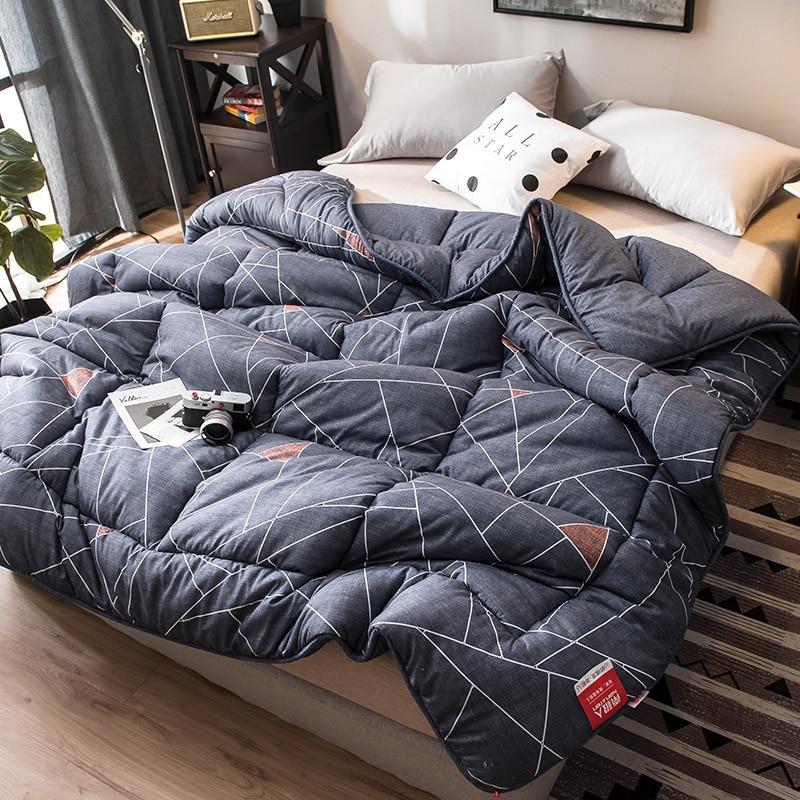 توريد بطانية سميكة الشتاء لحاف شخص واحد لحاف فول الصويا الاصطناعية لحاف دافئ الربيع والخريف لحاف مزدوج Inser