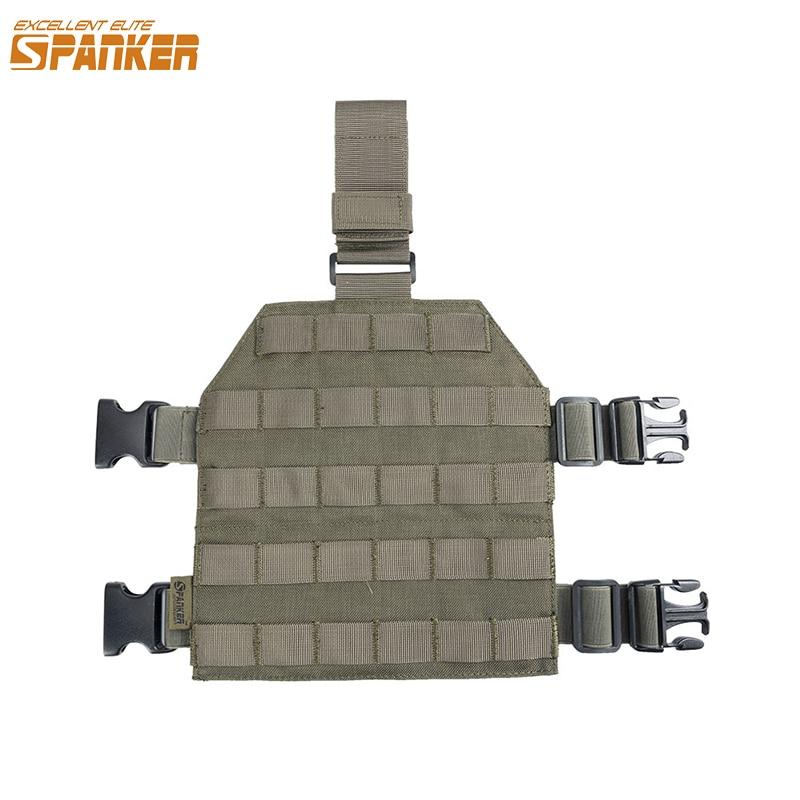 Excelente ELITE SPANKER Molle MOLLE Drop Leg Panel Universal piernas colgando placa jungla táctica accesorios de combate