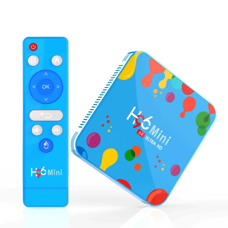 H96 mini 4 gb ram 128 gb rom caixa de tv allwinner h6 5g wifi 4 k 6 k bluetooth 4.0 android 9.0 smart tv caixa usb3.0 para youtube