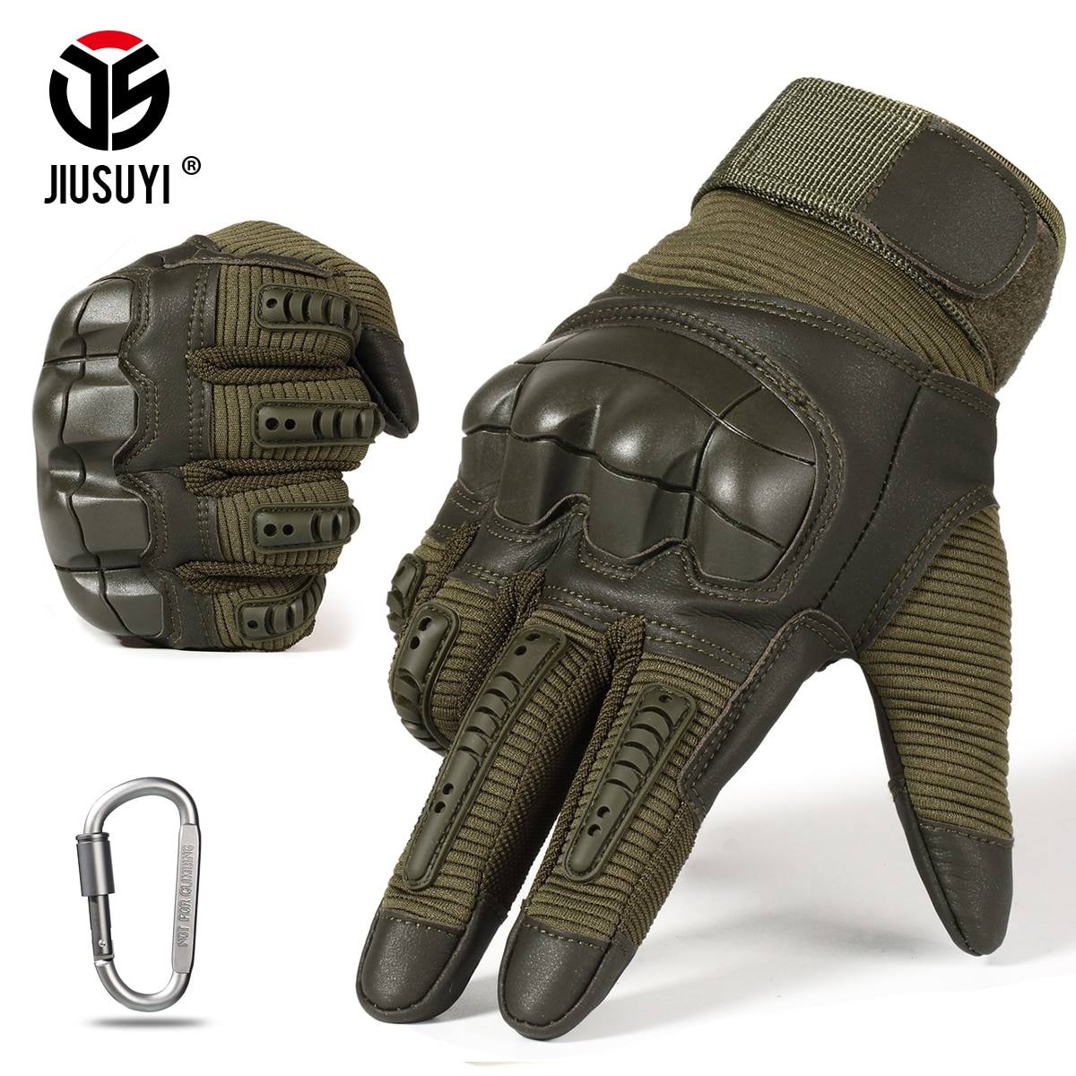 Full Finger Tactical Army Gloves Military Paintball Shooting Airsoft PU Leather Touch Screen Rubber Protective Gear Women Men