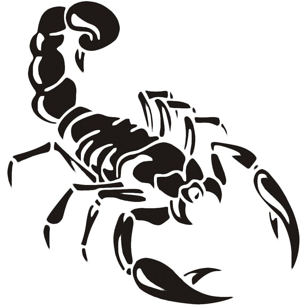 Personality Car Stickers Decor Motorcycle Decals Cute 3D Scorpion Decorative Accessories Creative  Waterproof PVC,30cm*30cm