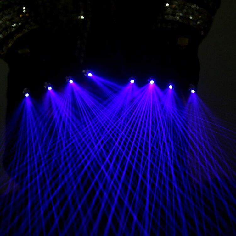 Guantes luminosos para Festival de Música, guantes láser de color azul Morado para DJ, guantes láser future technology show party glove
