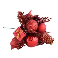 christmas ball spruce pine cone branch suitable for wedding christmas decoration diy valentines day dried flowers 7 colors