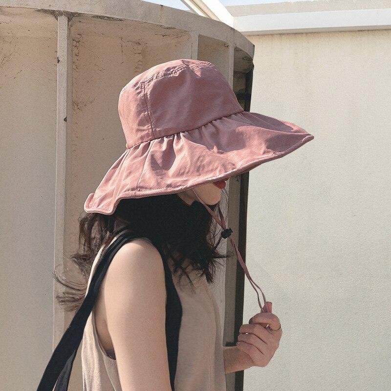 Большая шляпа, Солнцезащитная женская панама, шляпа для рыбалки, Мужская рыболовная Кепка, весенне-летняя уличная Панама от солнца, пляжная ...