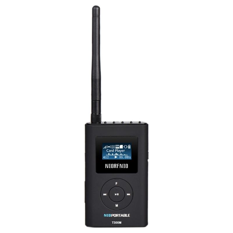 NIORFNIO Handhold Portable PLL FM Transmitter T300M 0.3W Small Output Power MP3 Broadcast Radio Transmitter