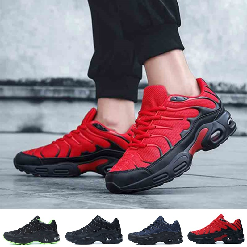 رجّالي وسادة هوائية أحذية رياضية احذية الجري موضة الدانتيل يصل تنفس عادي تنس أحذية رياضية