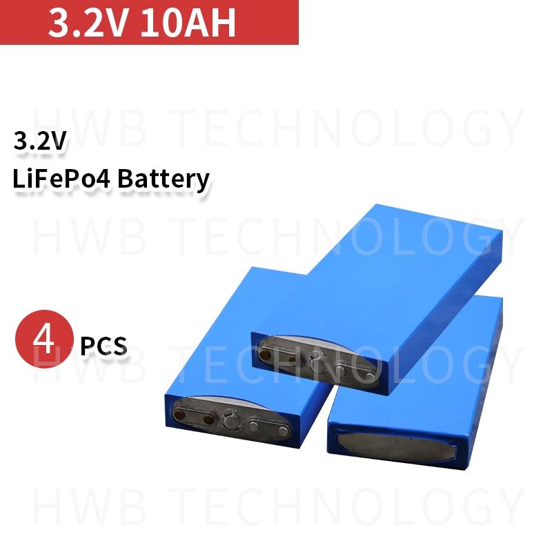 Paquete de 4 3,2 v 10ah lifepo4 batería 10ah 3,2 v 30A descarga 10000mah funda de aluminio para 12v 10ah batería DIY paquete de herramientas eléctricas