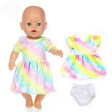 Fashion Dress Wear For 43cm Baby Doll 17 Inch Born Babies Dolls Clothes And Accessories