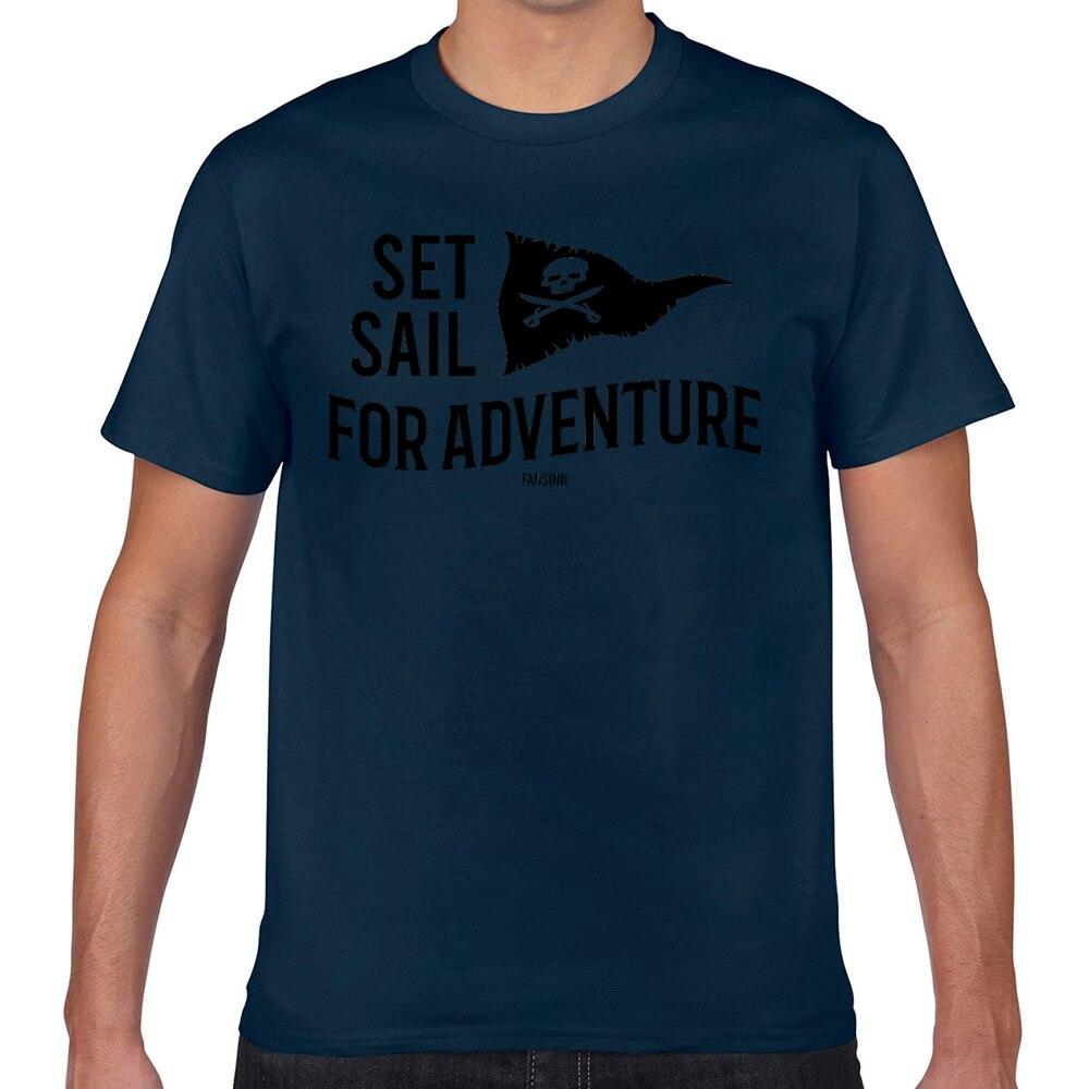 Camisetas para hombres pirata seafaring adventure treasure hunt Kawaii, camisetas masculinas Geek personalizadas XXX