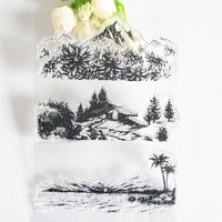 three seasons scenery transparent clear stampseal for diy scrapbooking photo album decorative silicone stamps sheets