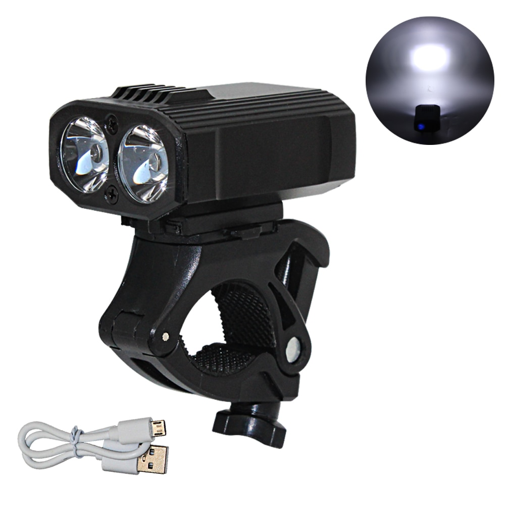 waterproof led cycling front head bicycle bike light headlight headlamp bike front head light flashlight torch T6 LED Outdoor Flashlight Torch Bicycle Light Bike Front Lamp Headlight USB Rechargeable Built-in Battery Bike Front Light