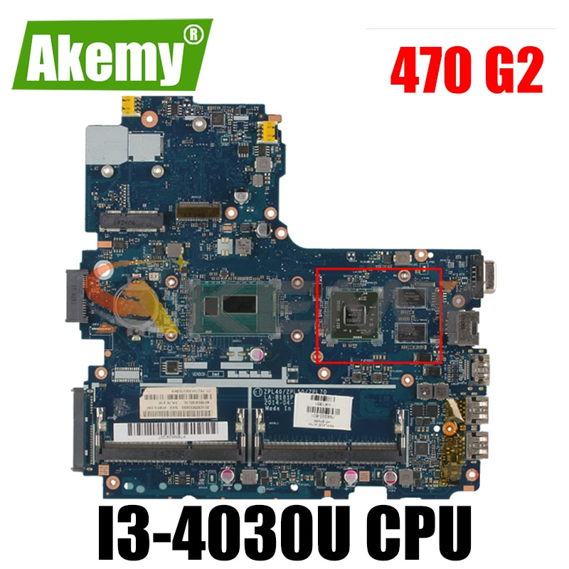 768398-601 para HP Probook 470 G2 768398-001 SR1EN 216-0858030 i3-4030U DDR3 motherboard Notebook Mainboard teste completo 100% trabalho