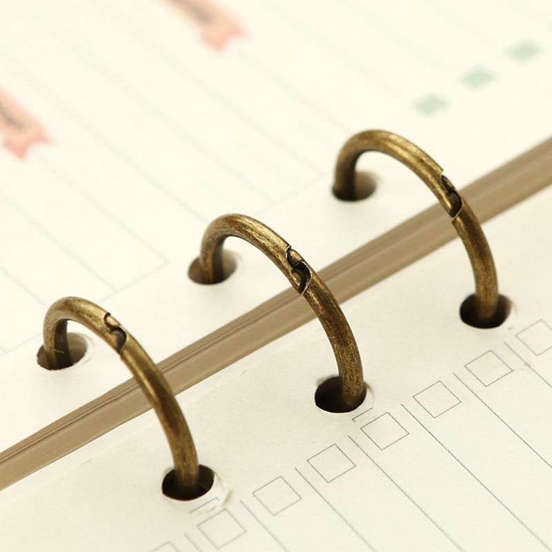 DIY металлический зажим 3 отверстия для колец для ноутбука свободный лист дневник, фотоальбом переплет M2EC